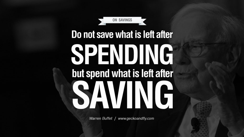 You Plan Your spending