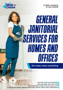 Mop n Clean Warri's Domestic and Industrial Cleaning Service